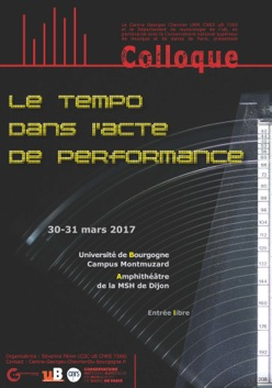 Affiche colloque Tempo