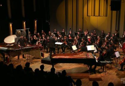 L'Orchestre du Conservatoire sous la direction de Pierre-André Valade