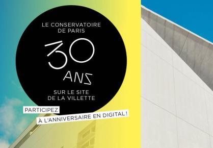 Les 30 ans du Conservatoire de Paris à La Villette en digital